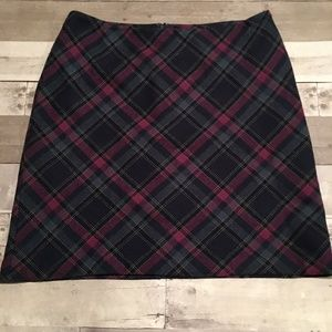 Talbots Red/Gray/Black Wool Shirt 14P